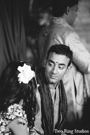 Indian wedding ceremony groom photography in Asheville, North Carolina Indian Wedding by Two Ring Studios