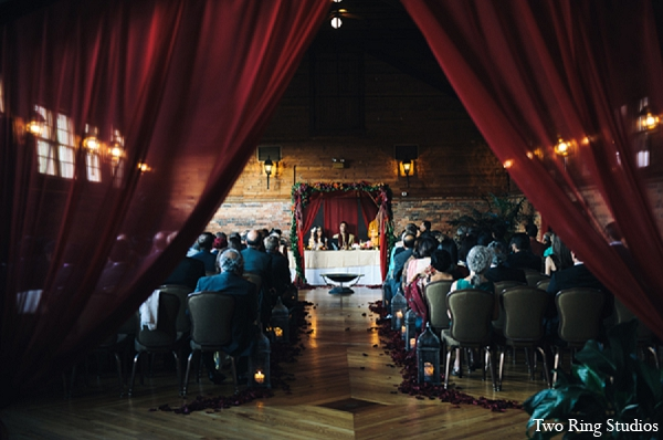 Indian wedding ceremony mandap decor in Asheville, North Carolina Indian Wedding by Two Ring Studios