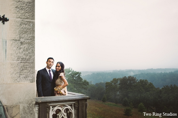 Indian wedding portraits bride groom in Asheville, North Carolina Indian Wedding by Two Ring Studios