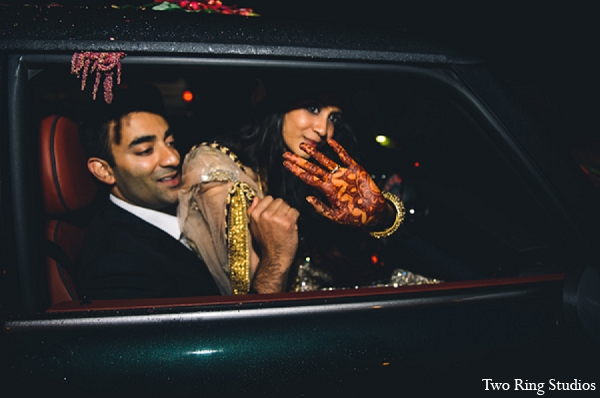 Indian wedding reception bride groom in Asheville, North Carolina Indian Wedding by Two Ring Studios