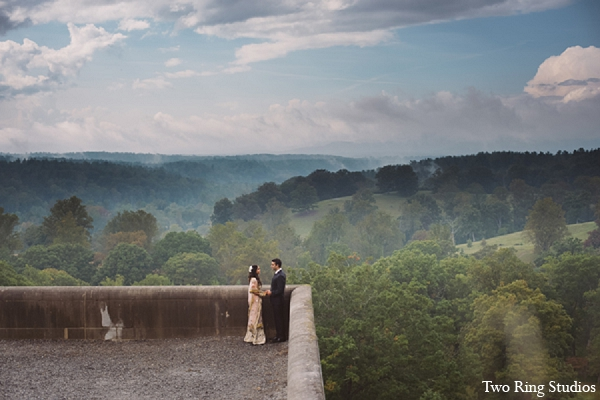 Indian wedding venue bride groom in Asheville, North Carolina Indian Wedding by Two Ring Studios