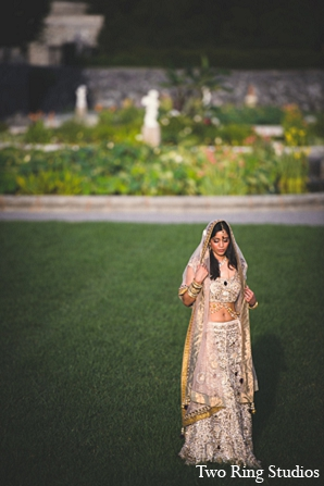 Indian wedding venue bride lengha in Asheville, North Carolina Indian Wedding by Two Ring Studios