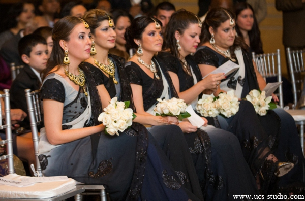 Indian-wedding-bridal-party-black-lenghas