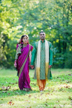 Indian-wedding-bride-groom-fusion-vibrant