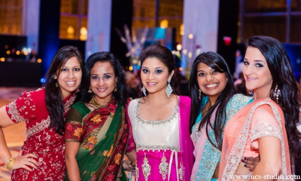 Indian-wedding-colorful-guests-reception