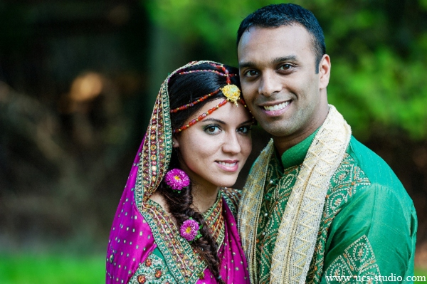 Indian-wedding-groom-bride-vibrant-fusion