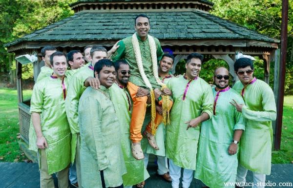 Indian-wedding-groom-groomesmen-portrait