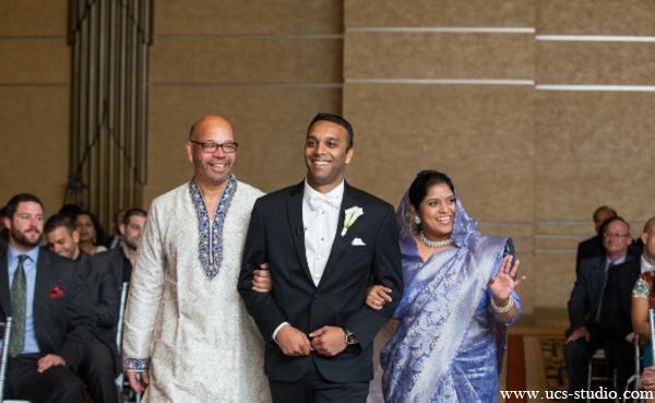 Indian-wedding-groom-walking-down-aisle