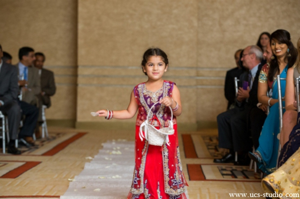 Indian-wedding-mini-maharani-walks-down-aisle