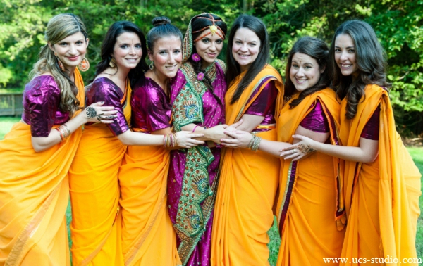 Indian-wedding-portrait-bride-bridal-party
