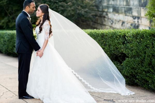 Indian-wedding-portrait-fusion-bride-groom-white-gown
