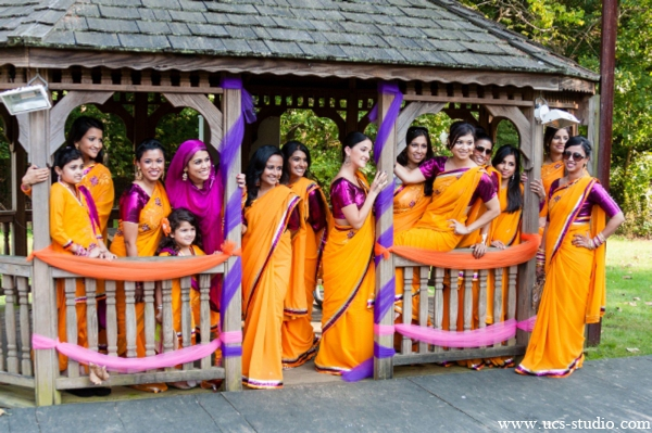Indian-wedding-portrait-gaye-holud-outdoors