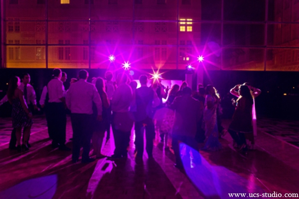 Indian-wedding-reception-guests-hot-pink-lighting