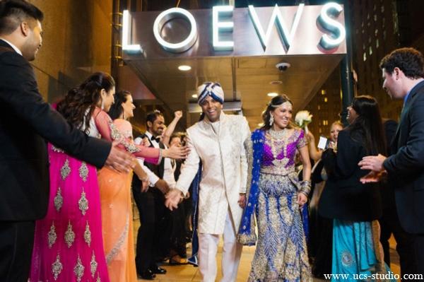 Indian-wedding-reception-portrait-bride-groom