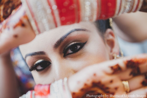 Indian wedding getting ready bride bangles makeup