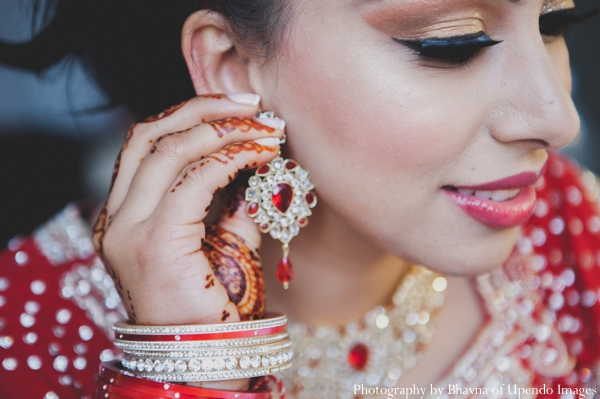Indian wedding getting ready bride jewelry