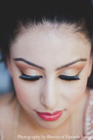 Indian wedding getting ready bride
