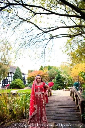 Indian wedding portrait bride bridge