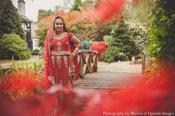 Indian wedding portrait bride garden
