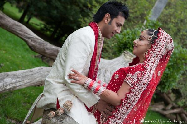 Indian wedding portrait bride groom lengha sherwani