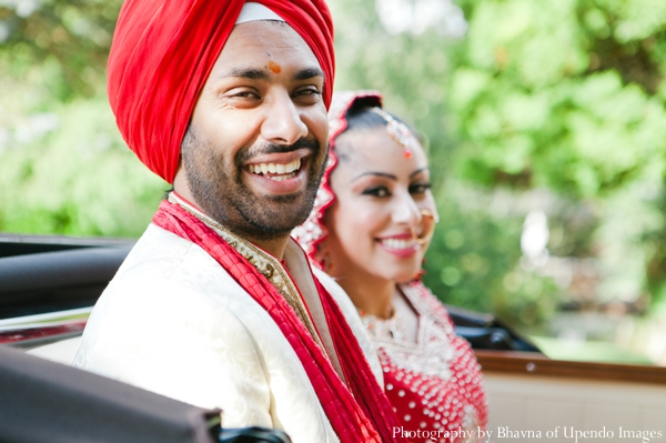 Indian wedding portrait bride groom traditional
