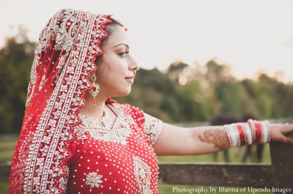Indian wedding portrait bride nature