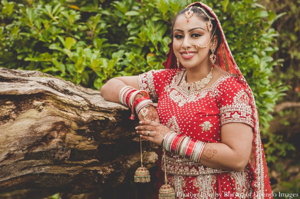 Indian wedding portrait bride outdoors