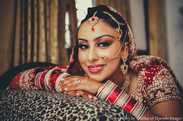 Indian wedding portrait bride tikka traditional