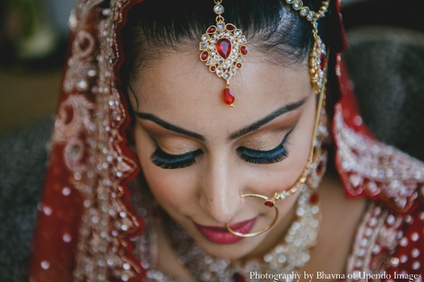 Indian wedding portrait bride tikka