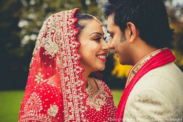 Indian wedding portrait groom bride traditional
