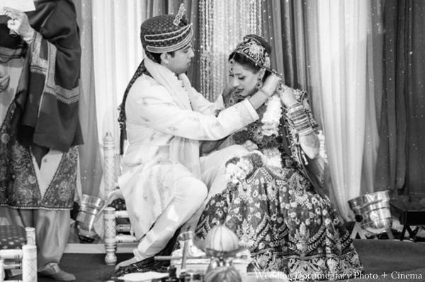 Indian-wedding-ceremony-bride-groom-customs-black-white