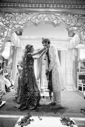 Indian-wedding-ceremony-groom-bride-black-white