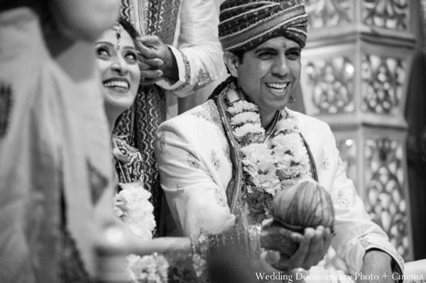 Indian-wedding-ceremony-groom-bride-inspiration-black-white