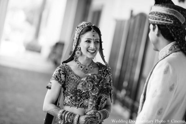 Indian-wedding-portrait-black-white-groom-bride