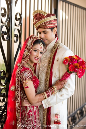 Indian-wedding-portrait-bride-groom-floral