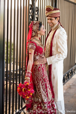 Indian-wedding-portrait-groom-bride-floral