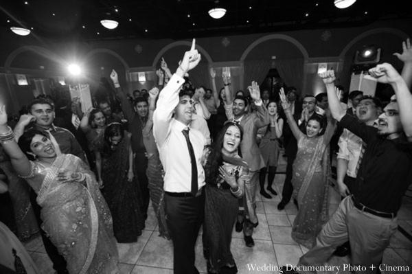Indian-wedding-reception-black-white-bride-groom
