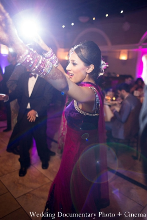 Indian-wedding-reception-bride-dancing