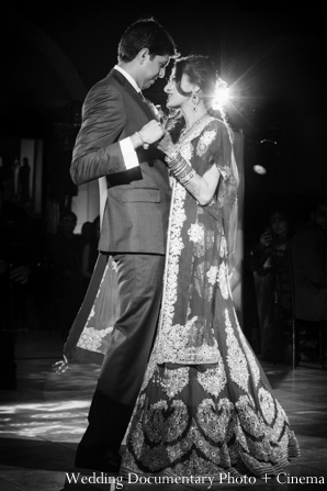Indian-wedding-reception-bride-groom-black-white