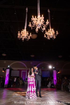 Indian-wedding-reception-bride-groom-dancing-decor