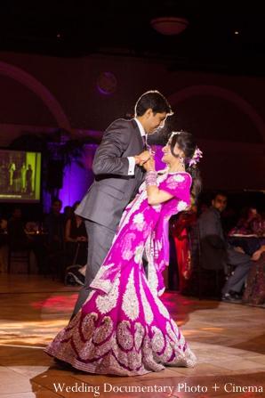 Indian-wedding-reception-bride-groom-first-dance