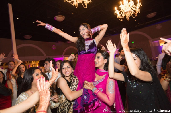Indian-wedding-reception-bride-party-dancing