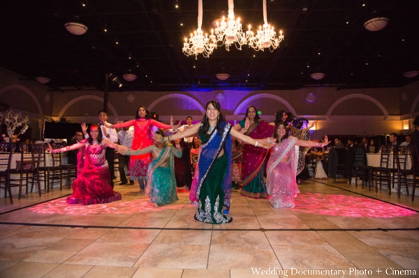 Indian-wedding-reception-dancing-bridesmaids
