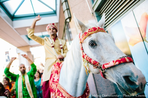 Indian wedding baraat groom family party