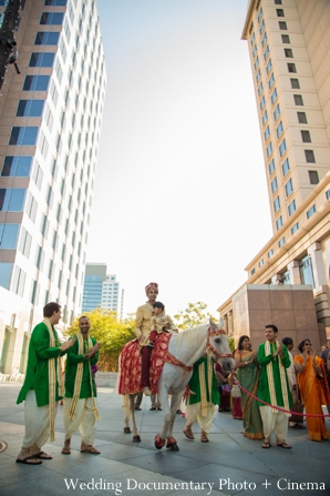 Indian wedding baraat groom party city