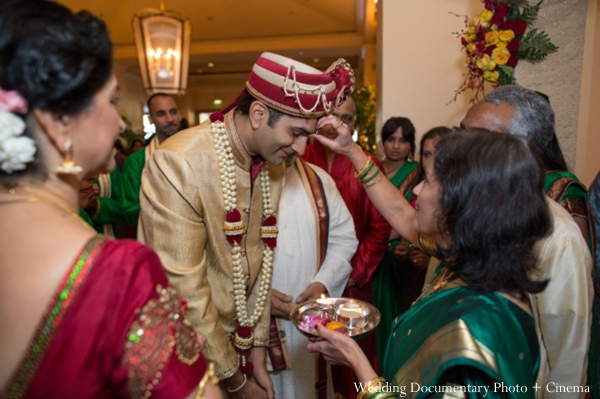 Indian wedding baraat groom party family