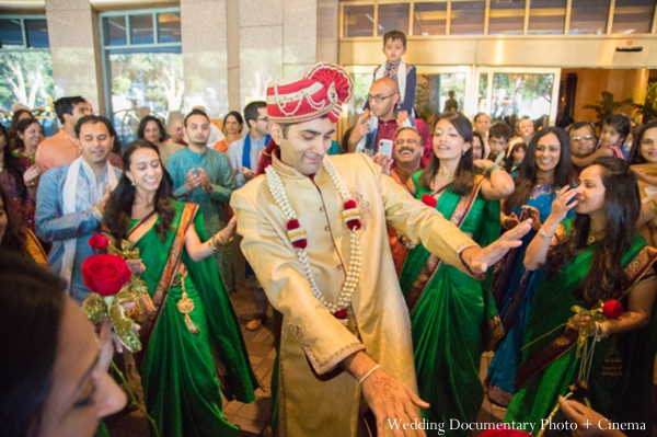 Indian wedding baraat groom party
