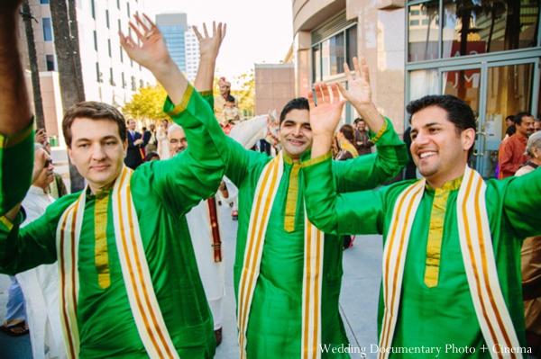 Indian wedding baraat guests city