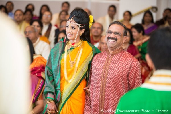 Indian wedding ceremony bride family