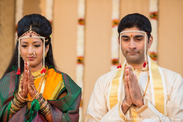 Indian wedding ceremony groom bride traditional